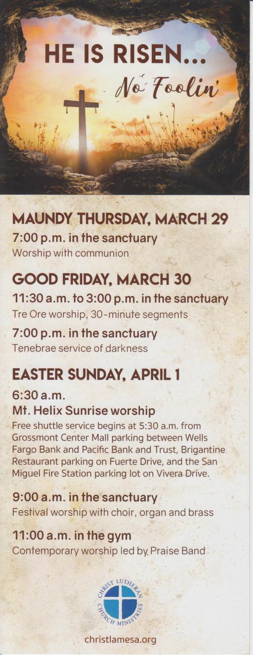 Easter-Week