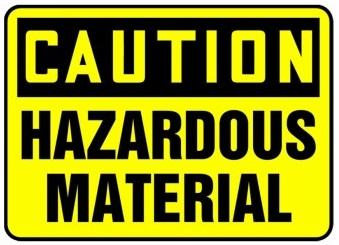 Caution hazardous material