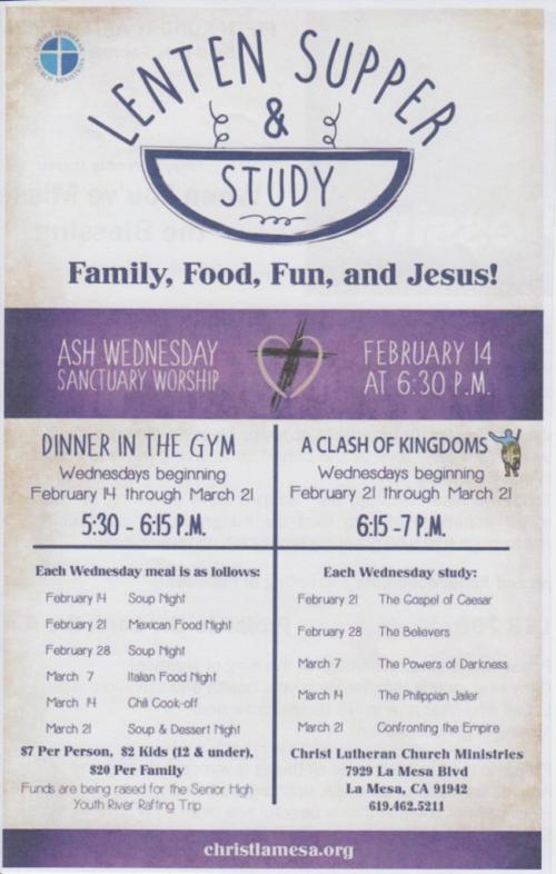 Lent Soup Study