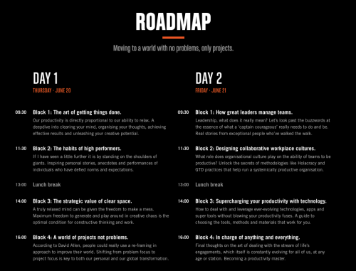 GTD Roadmap For Summit 2019