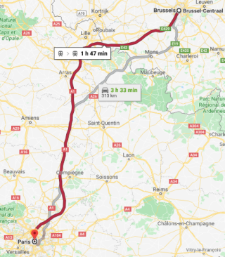 Brussels To Paris