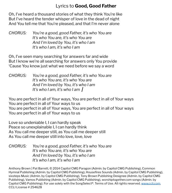 Lyrics-to-good-good-father