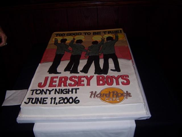 Jersey Boys Tony Night 6-11-06 Cake