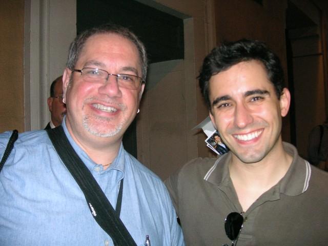 Listener Rob with John Lloyd Young